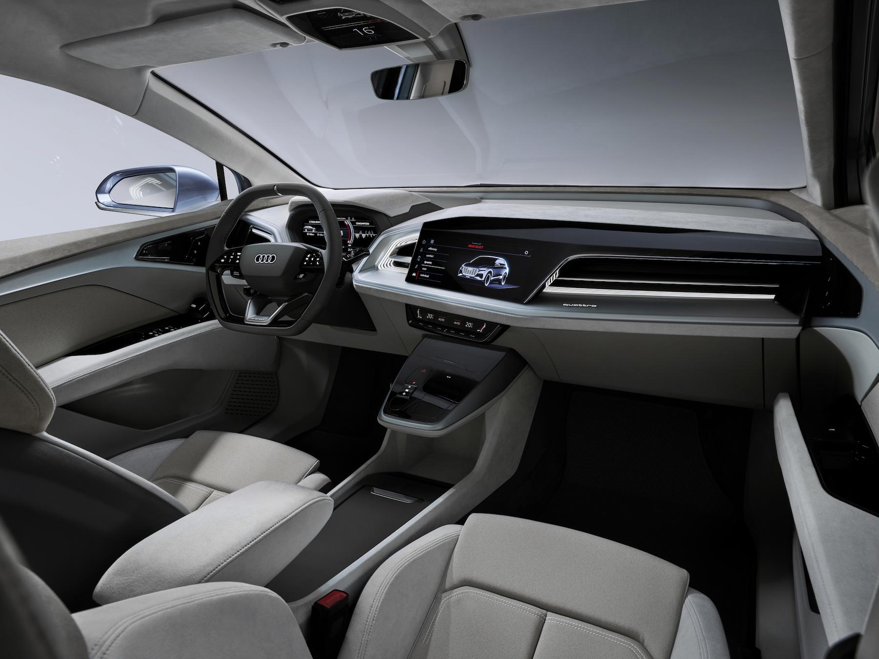 interni Nuova Audi Q4 E-Tron 2021