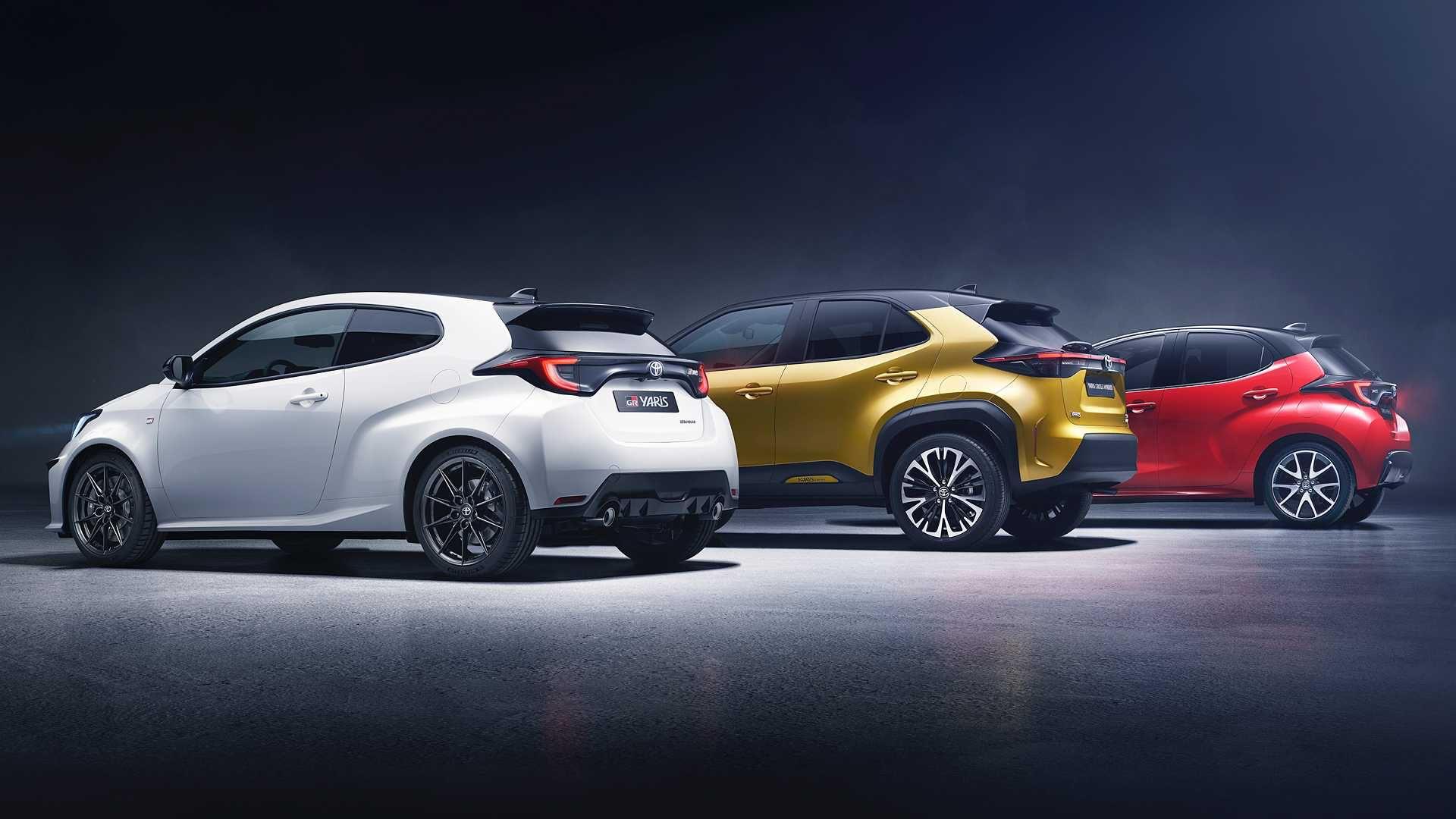 Foto della Toyota Yaris 2020 e della Toyota Yaris Cross 2021
