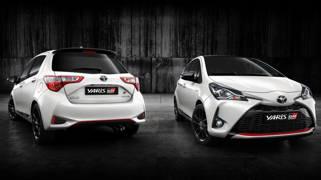 Foto fronte e retro della Toyota Yaris GR-S