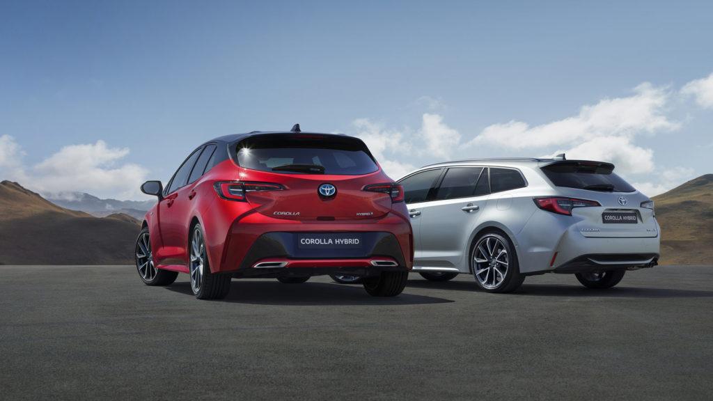 Nuova Corolla 2019 Rossa e Grigia