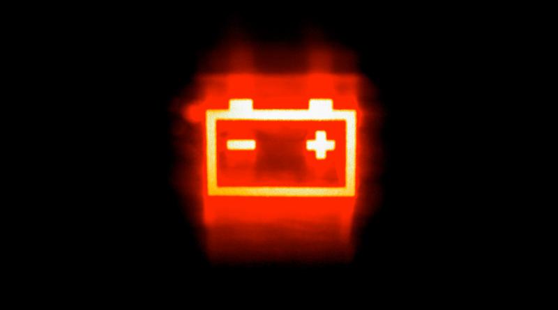 batteria auto spia