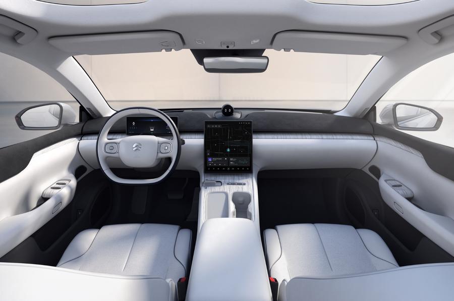 NIO ET7 l'interno della nuova automobile elettrica cinese